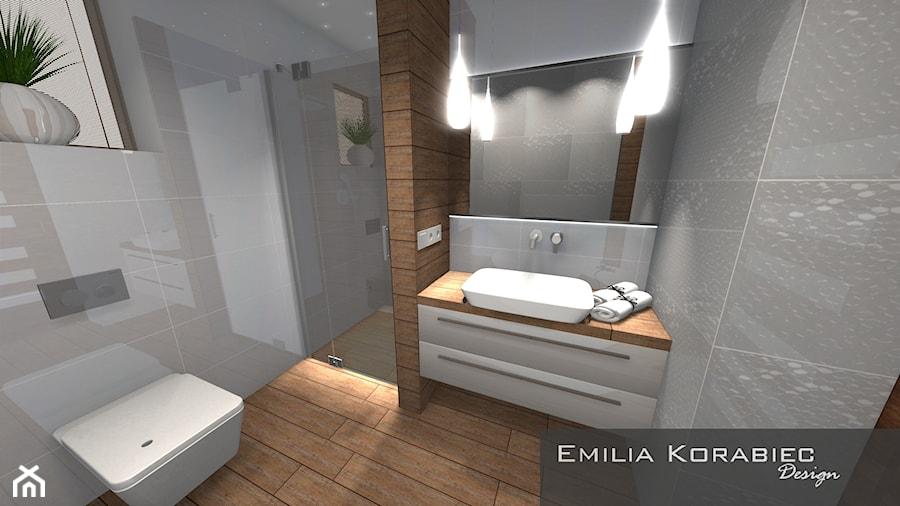 ŁAZIENKA PŁYTKI 3D GRESPANIA - zdjęcie od Emilia Korabiec Design