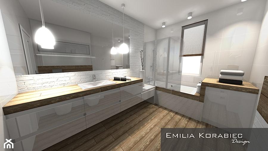 ŁAZIENKA NOWOCZESNA EMILIA KORABIEC DESIGN - zdjęcie od Emilia Korabiec Design