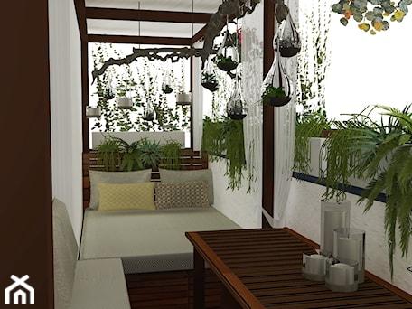 Aranżacje wnętrz - Taras: Balkon w zieleni - Taras, styl eklektyczny - Pięknie.tu & PięknyMebel.pl: projektowanie wnętrz, schody i meble na wymiar. Przeglądaj, dodawaj i zapisuj najlepsze zdjęcia, pomysły i inspiracje designerskie. W bazie mamy już prawie milion fotografii!