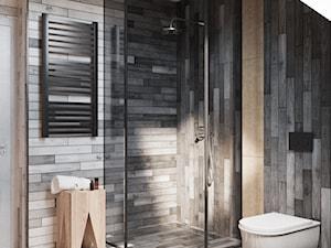 dom_swarzędz - Średnia szara łazienka na poddaszu w domu jednorodzinnym bez okna, styl rustykalny - zdjęcie od Dorota Zamojska