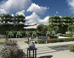 kompleksowy projekt: ogród, elewacja, ogrodzenie - Duży ogród za domem z oczkiem wodnym, styl nowoczesny - zdjęcie od KOKON zespół architektoniczny