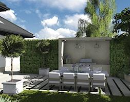 kompleksowy projekt: ogród, elewacja, ogrodzenie - Średni ogród za domem, styl nowoczesny - zdjęcie od KOKON zespół architektoniczny
