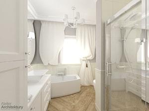 Elegancka łazienka w stylu klasycznym. - zdjęcie od Atelier Architektury