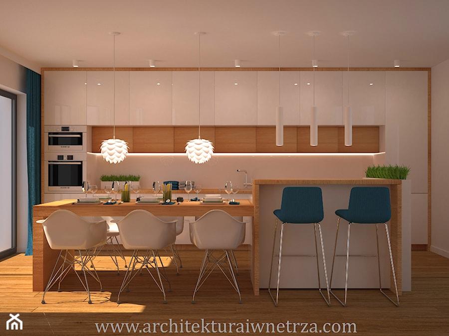 Projekt nowoczesnej kuchni - zdjęcie od Projektowanie Wnętrz Oliwia Drobnicka