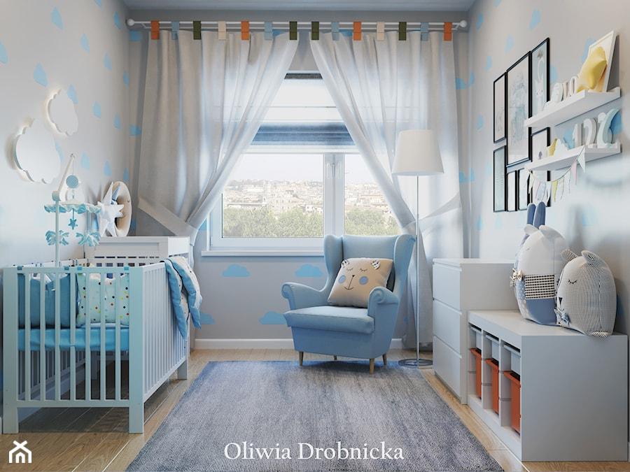 Aranżacje wnętrz - Pokój dziecka: Projekt mieszkania na Śląsku - Mały szary pokój dziecka dla chłopca dla dziewczynki dla niemowlaka, styl nowoczesny - Projektowanie Wnętrz Oliwia Drobnicka. Przeglądaj, dodawaj i zapisuj najlepsze zdjęcia, pomysły i inspiracje designerskie. W bazie mamy już prawie milion fotografii!