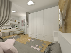 Mieszkanie w bloku pokój dziewczynki - zdjęcie od KOKOdesign - STUDIO PROJEKTOWE - Polska