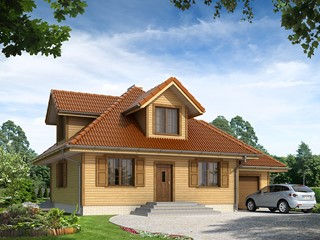 Projekty domów - SZKIELET DREWNIANY