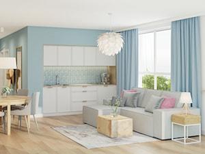 Apartament Wakacyjny - Cetniewo - Salon, styl skandynawski - zdjęcie od Pszczołowscy projektowanie wnętrz