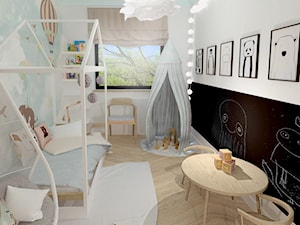 Pokój dziecka - Średni biały czarny kolorowy pokój dziecka dla chłopca dla dziewczynki dla malucha, styl skandynawski - zdjęcie od Zuzanna Sikora Architekt Wnętrz