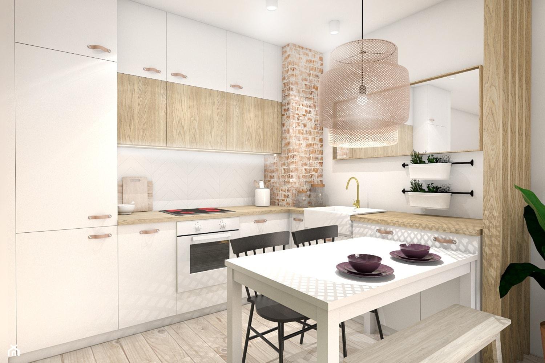 Ekonomiczny salon z kuchnią (98% Ikea) - Kuchnia, styl nowoczesny - zdjęcie od Zuzanna Rybicka Sikora Architekt Wnętrz - Homebook