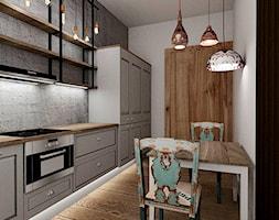 Mieszkanie w poznańskiej kamienicy - Średnia zamknięta szara kuchnia jednorzędowa, styl rustykalny - zdjęcie od Archikąty - Homebook