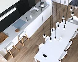 Dom pod Łodzią - Duża otwarta jadalnia jako osobne pomieszczenie, styl minimalistyczny - zdjęcie od Archikąty - Homebook