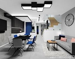 Salon+otwarty+na+kuchni%C4%99+i+przedpok%C3%B3j+-+zdj%C4%99cie+od+Pracownia+Projektowania+Wn%C4%99trz+%22Mieszkaj+Mi%C5%82o%22