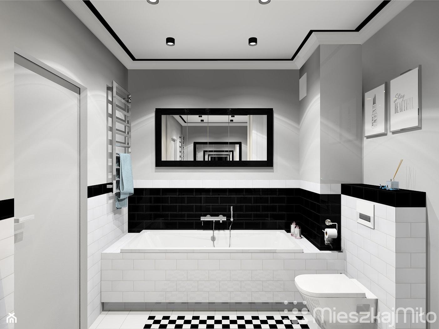 """Aranżacja łazienki - zdjęcie od Pracownia Projektowania Wnętrz """"Mieszkaj Miło"""" - Homebook"""