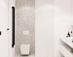 PROJEKT APARTAMENTU W WARSZAWIE KOLONIA SIELCE - Średnia biała łazienka w bloku w domu jednorodzinny ... - zdjęcie od HATCH STUDIO - Homebook