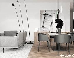 PROJEKT APARTAMENTU W WARSZAWIE KOLONIA SIELCE - Jadalnia, styl minimalistyczny - zdjęcie od HATCH STUDIO - Homebook