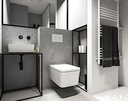 Projekt Mieszkania łódź Zdrowie Mała Szara łazienka Na