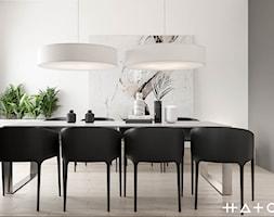 PROJEKT DOMU ŁÓDŹ ZŁOTNO - Jadalnia, styl minimalistyczny - zdjęcie od HATCH STUDIO - Homebook