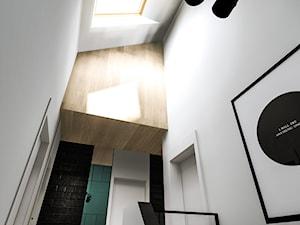 Dom w Poznaniu - Mały biały hol / przedpokój, styl nowoczesny - zdjęcie od Żaneta Strażyńska