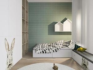 Dom w Poznaniu - Mały biały szary zielony pokój dziecka dla chłopca dla dziewczynki dla malucha dla nastolatka, styl nowoczesny - zdjęcie od Żaneta Strażyńska