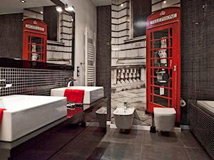 Mieszkanie w Grodzisku Wlkp. - Średnia biała czarna łazienka w domu jednorodzinnym, styl nowoczesny - zdjęcie od Żaneta Strażyńska