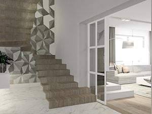 Dom pod Wolsztynem 2 - Średni biały hol / przedpokój, styl nowoczesny - zdjęcie od Żaneta Strażyńska