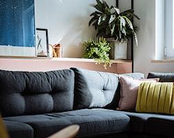 Mieszkanie w Gdyni - Mały biały salon - zdjęcie od em2pracownia - Homebook