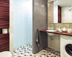 Apartament: drewno i kolor - zdjęcie od Marmur Studio