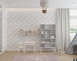 190 METRÓW DOMU NA WAWRZE - Mały biały szary pokój dziecka dla chłopca dla dziewczynki dla ucznia dl ... - zdjęcie od SIMPLIKA - Homebook