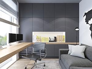 190 METRÓW DOMU NA WAWRZE - Małe biuro kącik do pracy w pokoju, styl nowoczesny - zdjęcie od SIMPLIKA