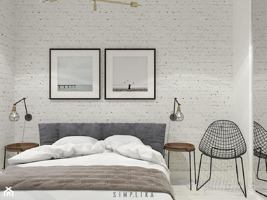 Biała Cegła Sypialnia Zdjęcie Od Simplika Homebook