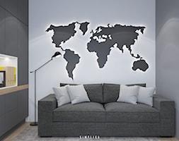 190 METRÓW DOMU NA WAWRZE - Małe szare biuro domowe w pokoju, styl nowoczesny - zdjęcie od SIMPLIKA - Homebook
