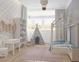 190 METRÓW DOMU NA WAWRZE - Średni biały szary pokój dziecka dla chłopca dla dziewczynki dla ucznia ... - zdjęcie od SIMPLIKA - Homebook