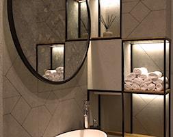 Lustro+postarzane+w+stalowej+ramie+-+zdj%C4%99cie+od+Szklarz+Glass+Decorator+Nowoczesne+Szk%C5%82o+dla+Architektury