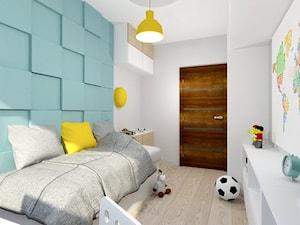 salon i pokój dziecka - Mały biały miętowy pokój dziecka dla chłopca dla malucha, styl nowoczesny - zdjęcie od moolo studio