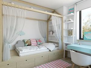 dom jednorodzinny w Legionowie - Średni biały pokój dziecka dla chłopca dla dziewczynki dla malucha, styl nowoczesny - zdjęcie od INSIDEarch