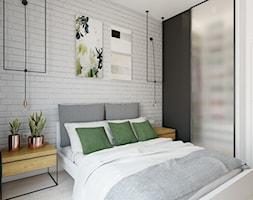 mieszkanie o polsko-skandynawskim charakterze 83mkw - Mała biała sypialnia małżeńska, styl skandynawski - zdjęcie od INSIDEarch - Homebook