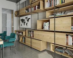 dom pasywny w Nałęczowie - Średnie białe biuro kącik do pracy w pokoju, styl industrialny - zdjęcie od INSIDEarch