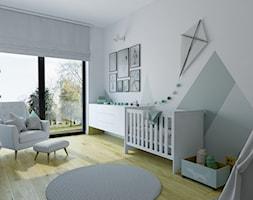 mieszkanie 140 mkw - Warszawa / Powsin - Średni biały szary pokój dziecka dla chłopca dla dziewczynki dla niemowlaka dla malucha, styl nowoczesny - zdjęcie od INSIDEarch