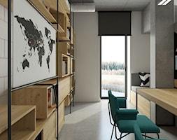 dom pasywny w Nałęczowie - Średnie szare biuro domowe kącik do pracy w pokoju, styl industrialny - zdjęcie od INSIDEarch