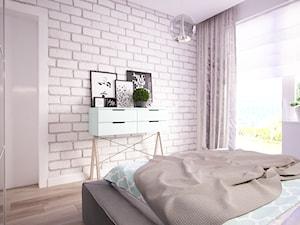 Sypialnia w 55 m2 mieszkaniu w Ostrołęce