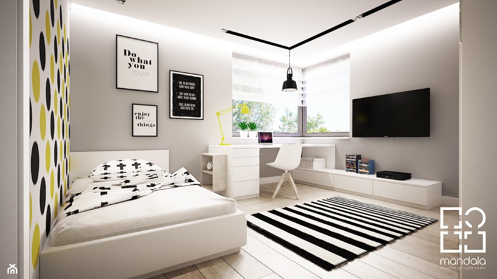 Pokoik dla chłopca 15 m2 - zdjęcie od studio_projektowe_mandala - Homebook