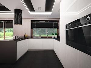 Kuchnia w 160 m2 domu jednorodzinnym w Ostrołęce