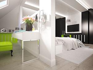 Sypialnia na poddaszu w 271m2 domu pod Ostrołęką