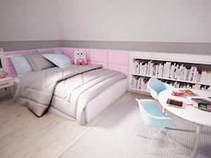 Pokój dla dziewczynki w 271 m2 domu jednorodzinnym