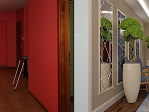 Metamorfoza korytarza i salonu na poddaszu