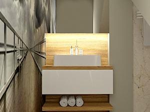 Chilled Honey - Mała biała łazienka na poddaszu w domu jednorodzinnym bez okna, styl skandynawski - zdjęcie od Home Atelier Aneta Rosińska-Dadsi