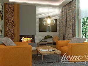 Chilled Honey - Mały szary biały salon, styl nowoczesny - zdjęcie od Home Atelier Aneta Rosińska-Dadsi