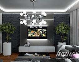 Soczyste marengo - Mały średni szary salon - zdjęcie od Home Atelier Aneta Rosińska-Dadsi