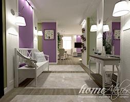 Lawendowa Prowansja - Średni biały zielony fioletowy hol / przedpokój, styl prowansalski - zdjęcie od Home Atelier Aneta Rosińska-Dadsi